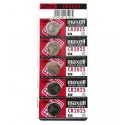 5 pilas botón Maxell batería CR-2025 de litio 3V lithium