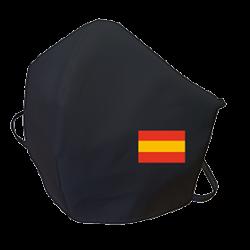 Pack de 2 Mascarillas reutilizable lavable color negro