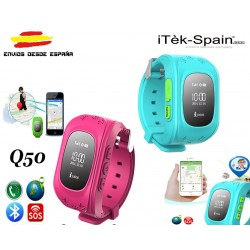 Reloj localizador GPS Q50 inteligente Móvil Niños Actividad Seguir SOS llamada