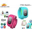 Reloj GPS Q50 inteligente Móvil Niños Actividad Seguir localizador SOS llamada