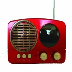 Altavoz radio retro Inalámbrico Bluetooth Portátil entrada Micro SD usb