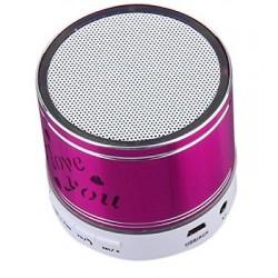 Altavoz Inalámbrico Bluetooth Portátil entrada Micro SD y auxiliar rosa