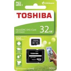 Comprar tarjeta memoria Toshiba EXCERIA Micro SD clase 10 - 32 GB -Velocidad R 100 MB/s