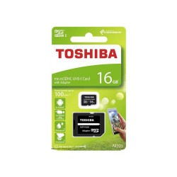 Comprar tarjeta memoria Toshiba EXCERIA Micro SD clase 10 - 16 GB -Velocidad R 100 MB/s